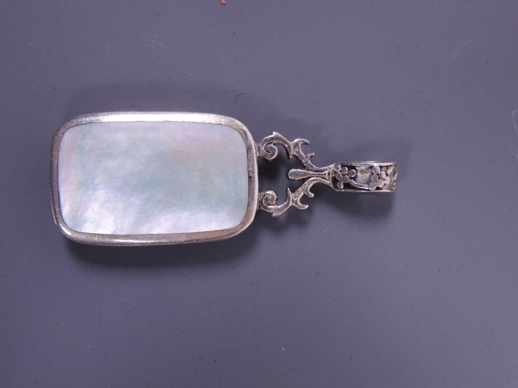 Mother of Pearl & Onyx Pendant