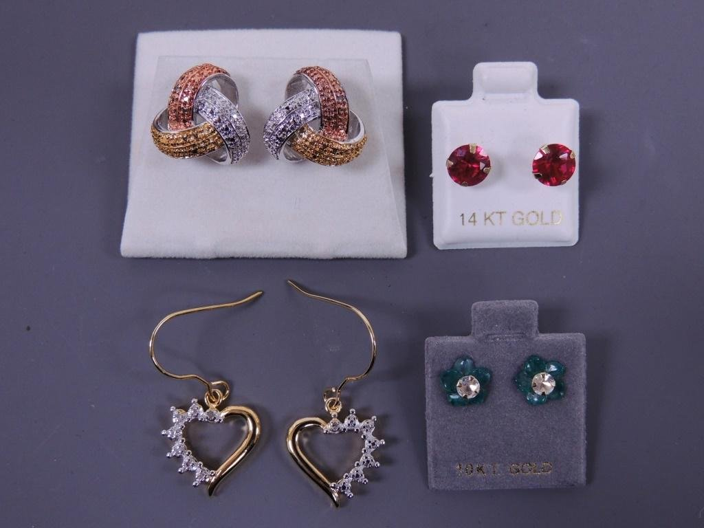 Four Sets of Earrings