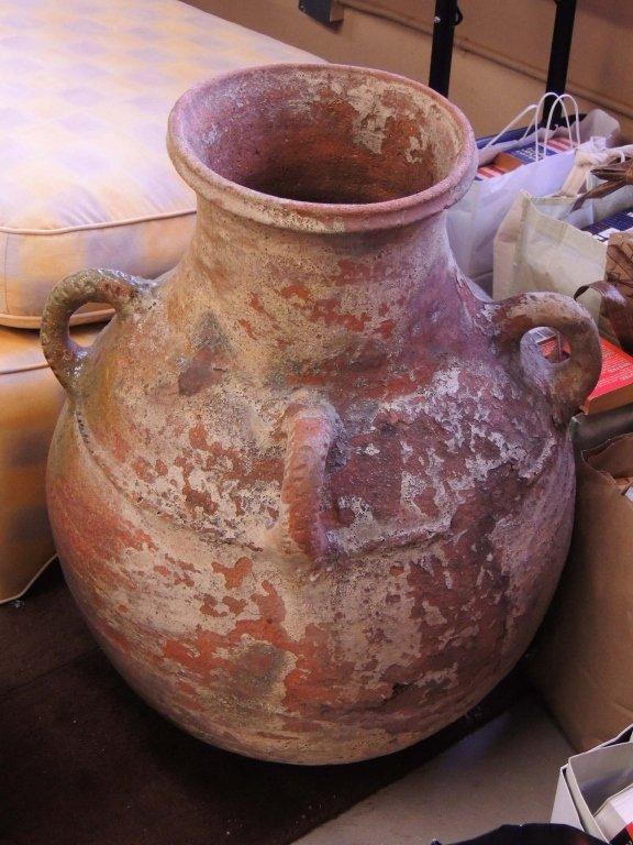 Large Clay Pot - 4 Handles