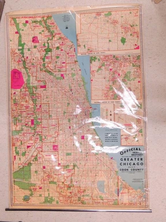 1950s Chicago Map