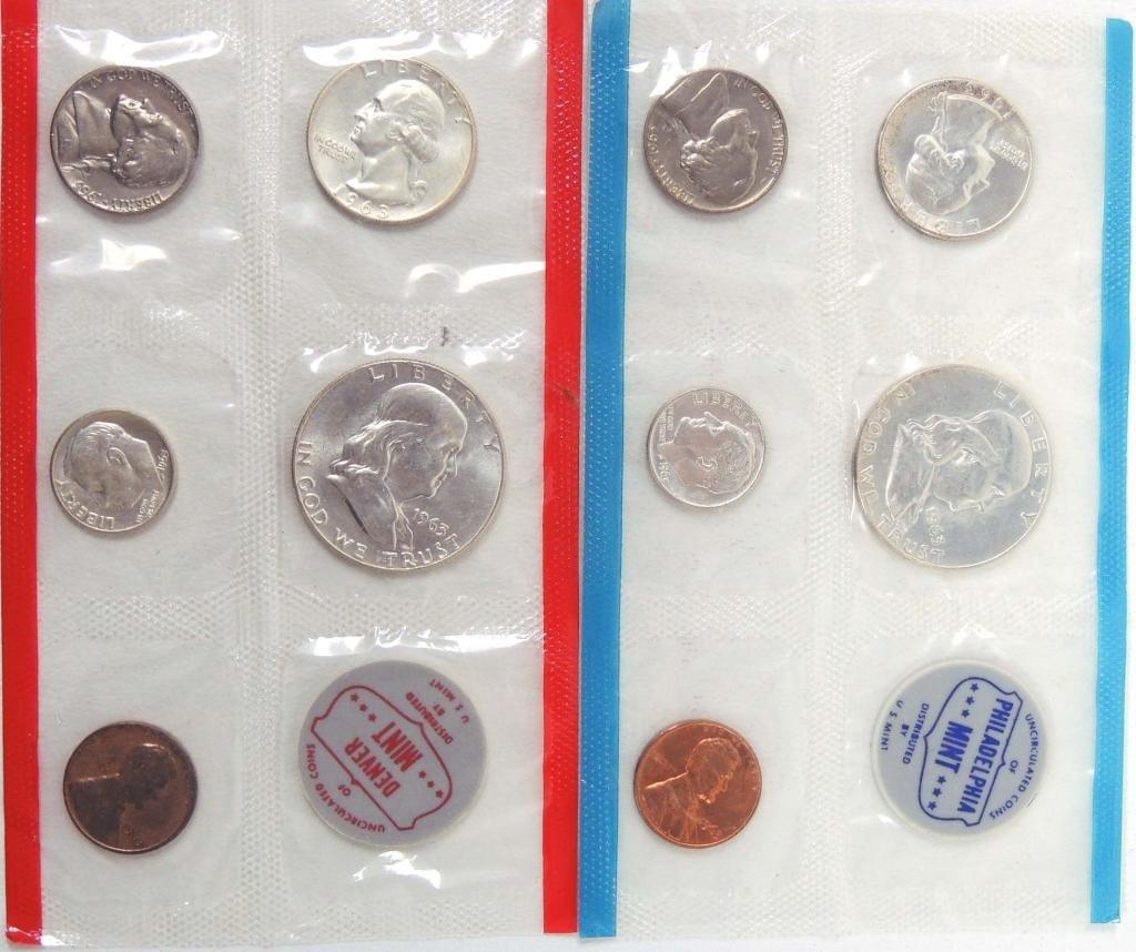 1963 US Mint Set (P & D) - silver