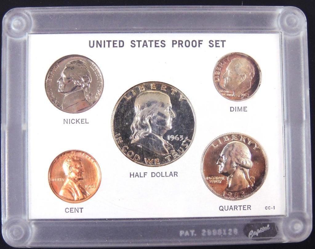 1963 U.S. Mint proof set - silver