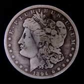 1894-o Morgan Silver Dollar (VG-Better Date?)