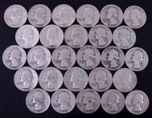 1940s Washington silver quarters (27)