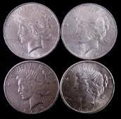 Peace silver dollars (4)