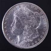 1900-o Morgan silver dollar (BU?)