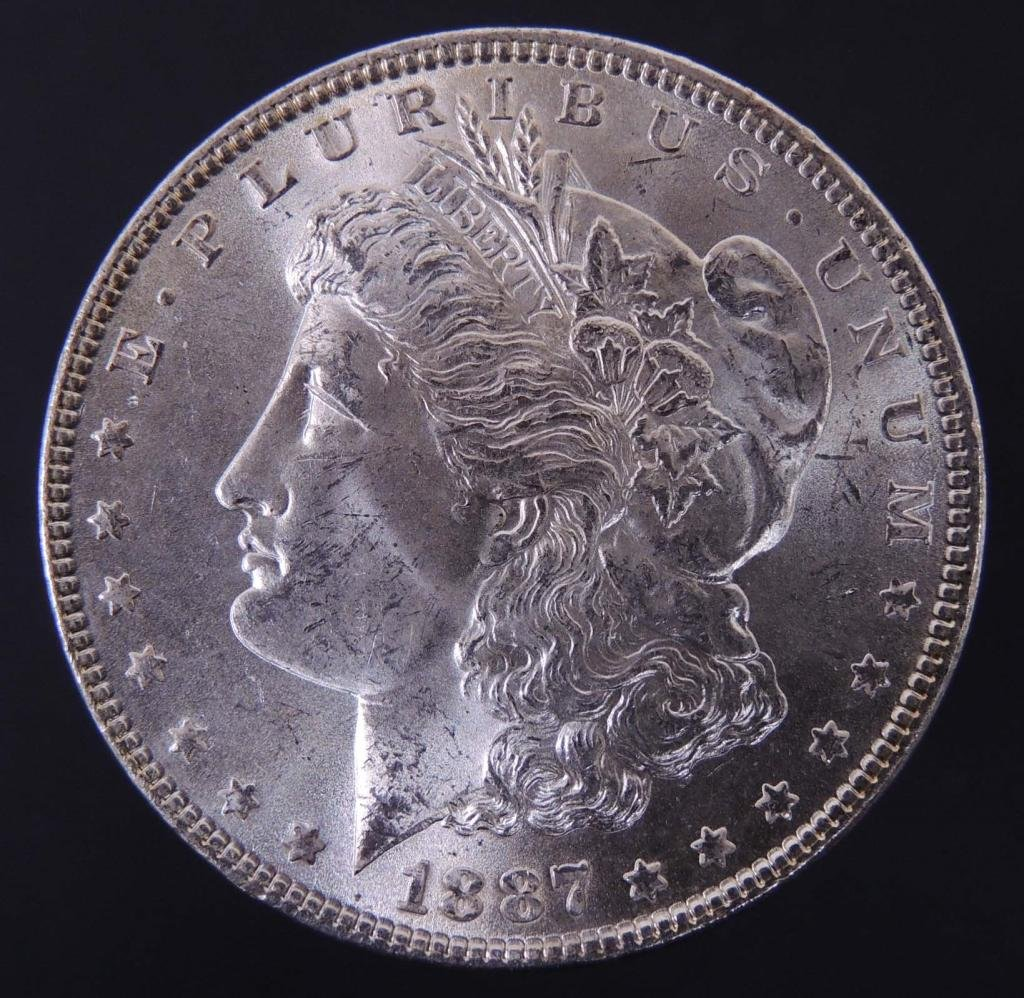 1887 Morgan silver dollar (Choice BU?)