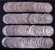 1940's Walking Liberty Half Dollars (75)