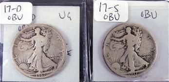2 Coin Lot - Walking Liberty Half Dollars