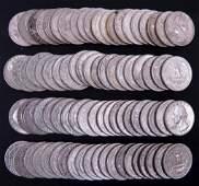 1962-1963 Washington Silver Quarters (80)