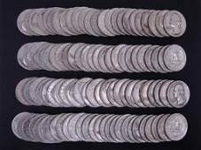 1950's Washington Silver Quarters (100)