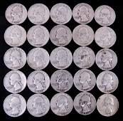 Early 1950's Washington Silver Quarters (25)