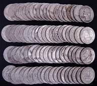 1957-1958 Washington Silver Quarters (80)