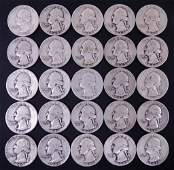 Early 1940's Washington Silver Quarters (25)