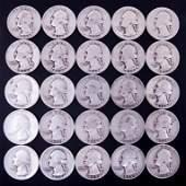 1934-1939 Washington Silver Quarters (25)