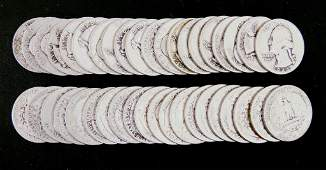1944 Washington silver quarters (40)