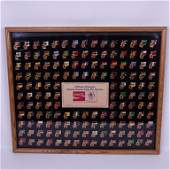 Framed 1984 Olympic Flag CocaCola Pin Set