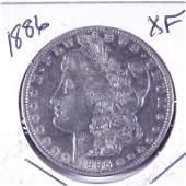 1886 Morgan Silver Dollar (XF?)