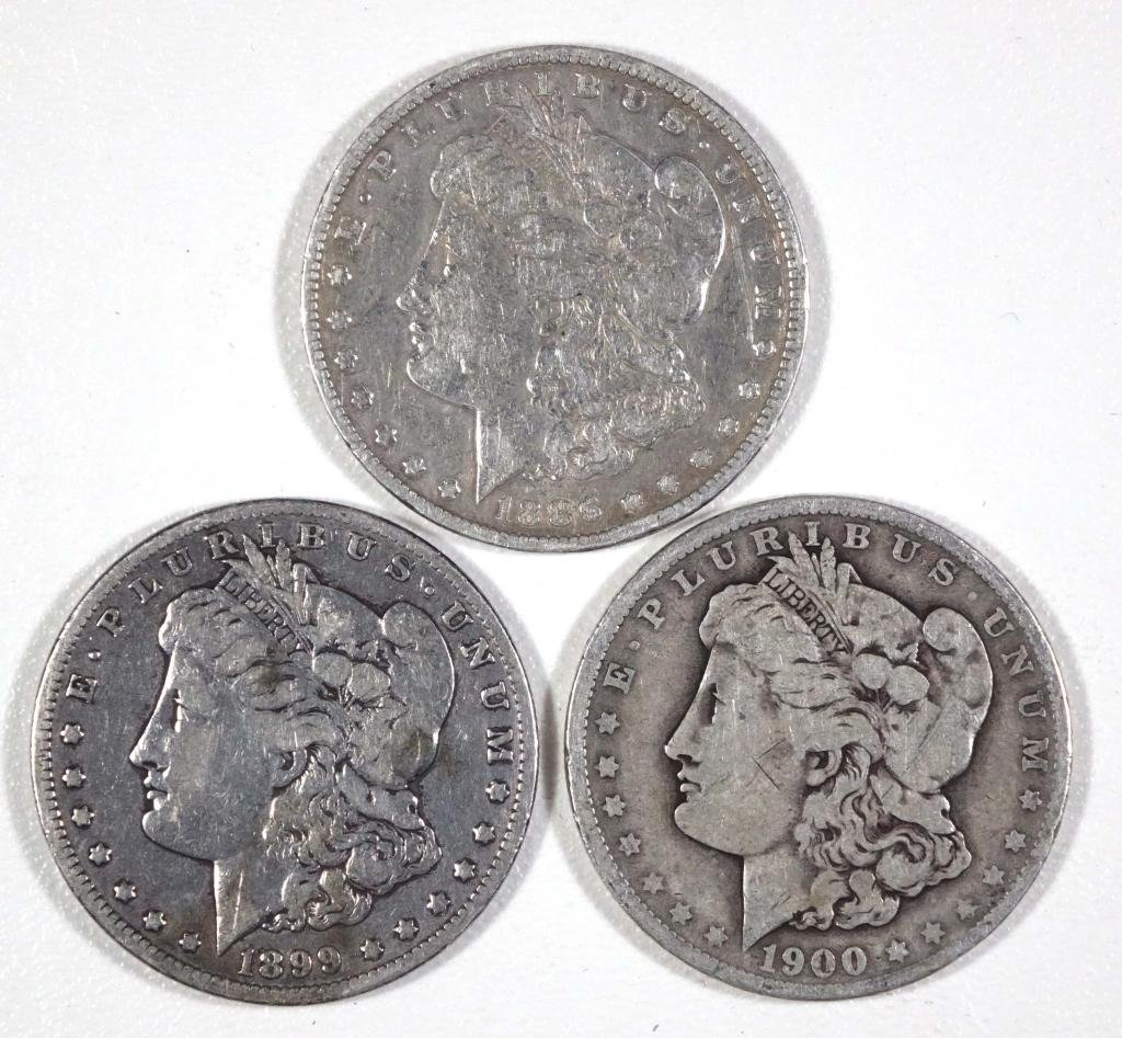 Morgan Silver Dollars (3)