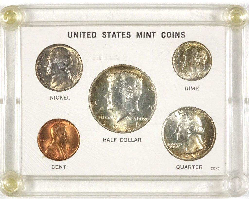 1964 BU 5 Coin Set
