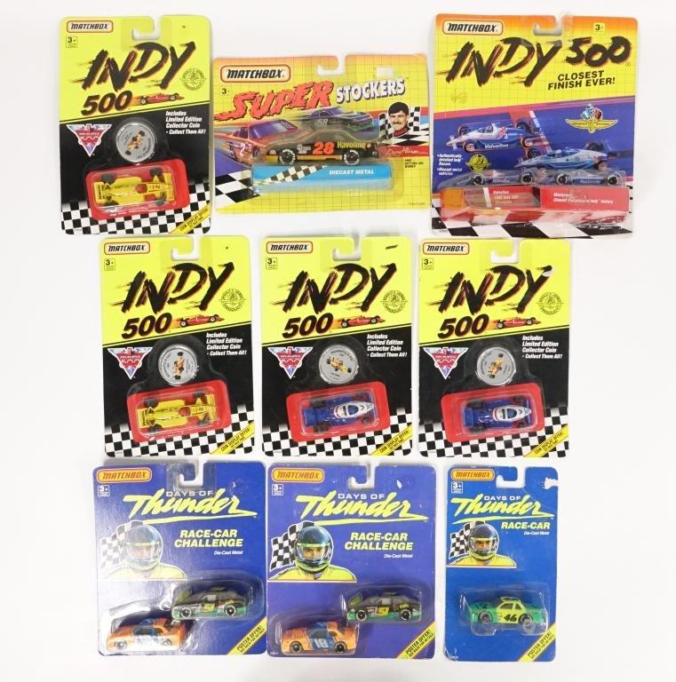 Assortment of Matchbox Racing Cars Die-Cast (9)