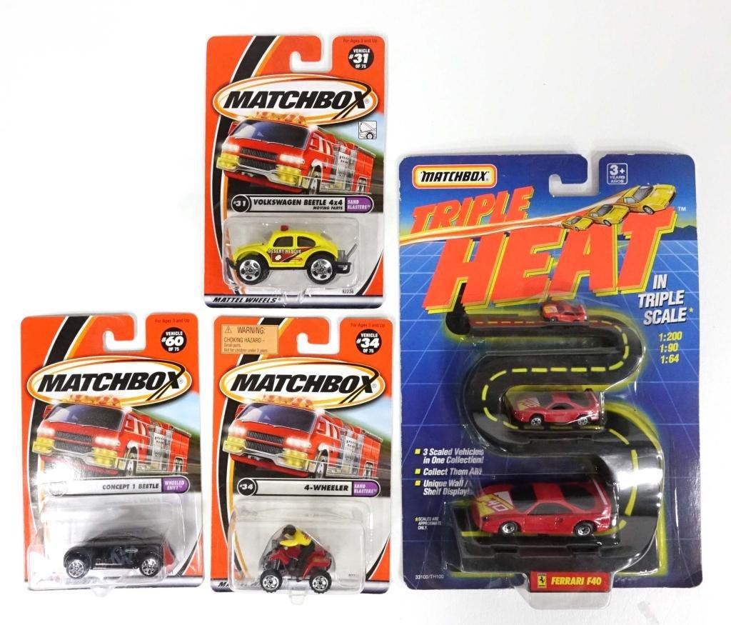 Assortment of Matchbox Cars Die-Cast (4 Pcs.)