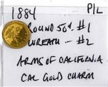 1884 California Gold Half Dollar Token (P/L)