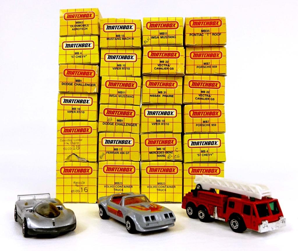 Assortment of Vintage Die-Cast Matchbox Vehicles