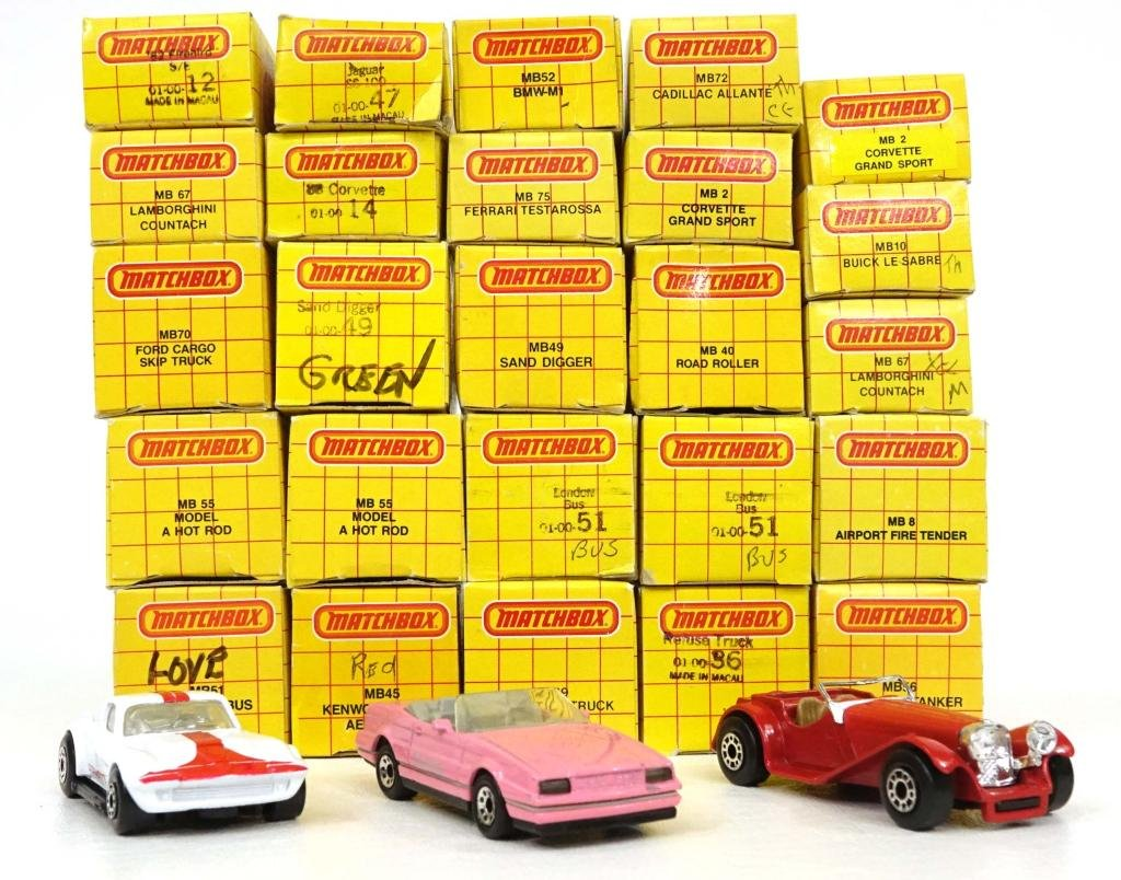 Assortment of Vintage Matchbox Die-Cast Cars