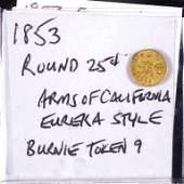 1853 California Gold Quarter Dollar Token