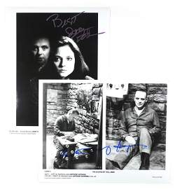 Autographs: Jodie Foster & Anthony Hopkins
