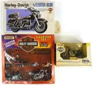 Vintage Die-Cast and Model Motorcycles (3 Pcs.)