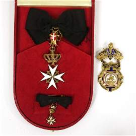 Knights Templar Medal & 1895 Conclave Badge