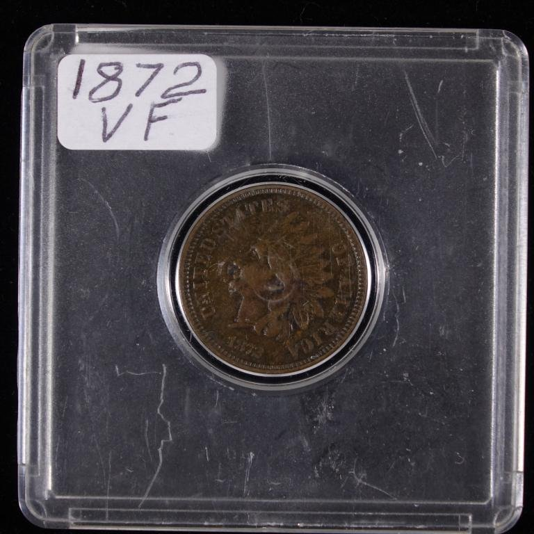 1872 Indian Cent - SEMIKEY
