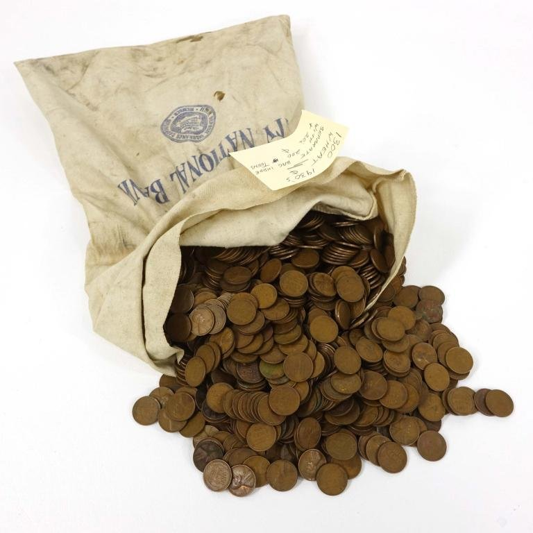 1910's - 1930's Wheat Cents (9+ lbs!)
