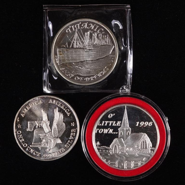 Silver Bullion Rounds (3)