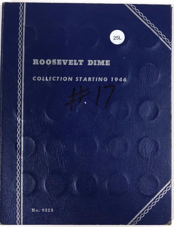 Partial Roosevelt Dime Collection (1946-76)