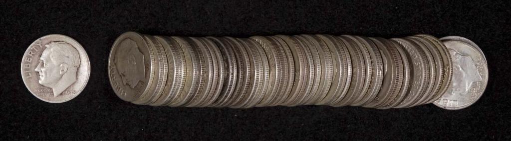 Roosevelt Silver Dimes (50)