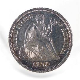 1870 Seated Liberty Dime - PROOF (Rare!)