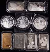9 ozt of Easter Themed Silver Bars & Rounds