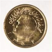 1975 (1354) Iran 1/2 Gold Pahlavi (KM# 1199)