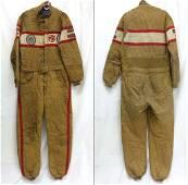 Vintage MG British Race Car Driver's Fire Suit