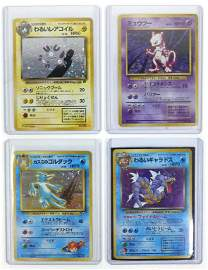 (4) Japanese Holo Pokemon Cards (Rare)