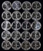 1 ozt Silver Rounds (20)
