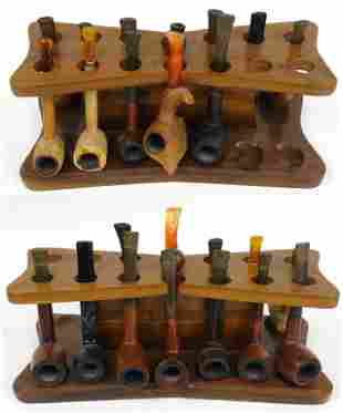 Vintage Pipes & Accessories (With Stand)