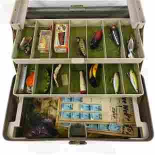 Fishing Lures - Wood, Vintage & Tackle Box