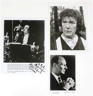 Autographs: Gielgud, Finney, M. Crawford
