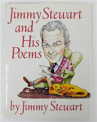 Signed Jimmy Stewart Poetry Book