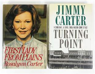 Jimmy & Rosalynn Carter Signed Books (2)