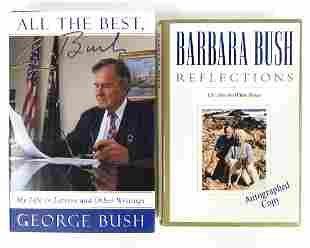 George & Barbara Bush Signed Books (2)